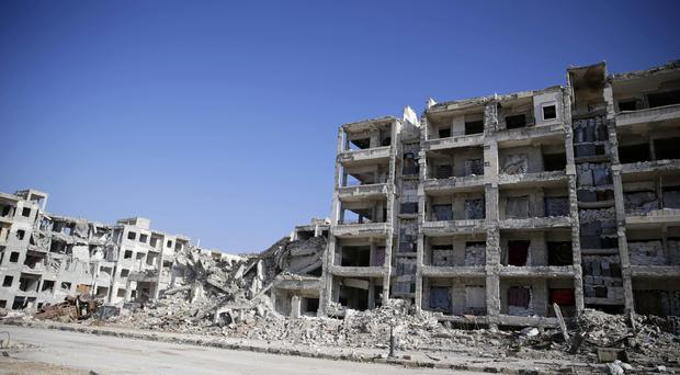 The ruins of Hanano district in eastern Aleppo (AP)