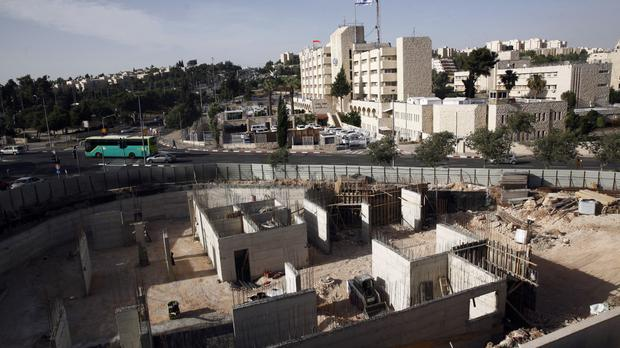 Construction on land owned by a Palestinian in east Jerusalem (AP/Mahmoud Illean)