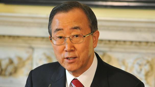 The rebels are expected to approach outgoing United Nations secretary general Ban Ki-moon, pictured, to be the new party's presidential candidate
