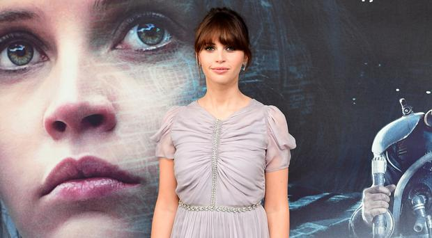 Rogue One star Felicity Jones, who plays Jyn Erso, at a London screening of the film