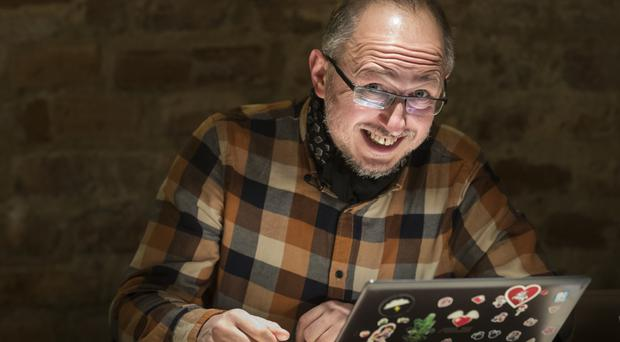 Ricardas Savukynas, a 43-year-old business consultant and blogger who is one of the Lithuanian anti-trolling volunteers who dub themselves elves (AP)