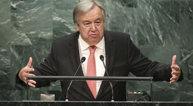 Antonio Guterres has taken control of the United Nations but US support for the world body remains questionable (AP)