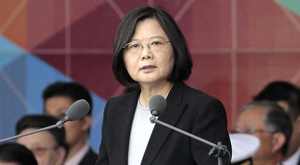 Taiwan's President Tsai Ing-wen will transit through Houston and San Francisco (AP/Chiang Ying-ying)