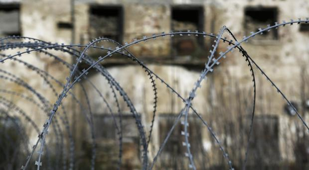 Barbed wire in the UN buffer zone that has divided the Greek and Turkish Cypriots (AP/Petros Karadjias)