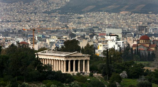 Police in Athens are investigating the death of a Russian diplomat