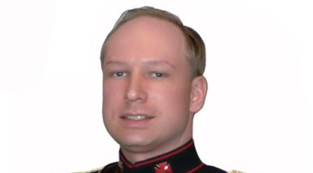 Anders Behring Breivik in an image taken from his online manifesto