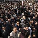 Iranians pack the streets of Tehran for the funeral of former president Akbar Hashemi Rafsanjani (AP)
