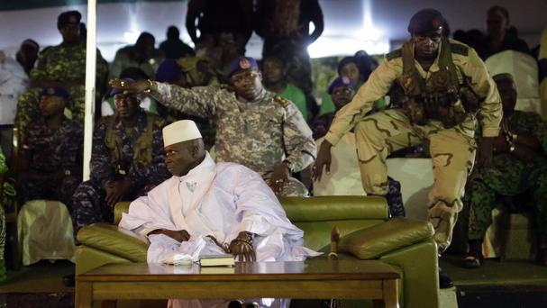 President Yahya Jammeh's final rally in Banjul, Gambia. (AP/Jerome Delay)