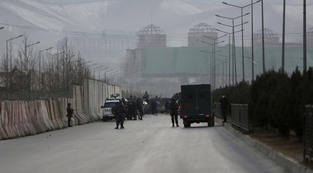 The men were abducted outside the American University of Afghanistan in Kabul in August (AP/Rahmat Gul)