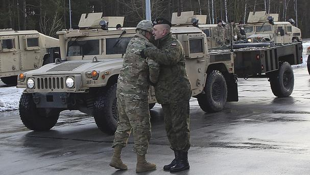 U.S.  troops arrive in Poland, boosting North Atlantic Treaty Organisation  defense in Eastern Europe