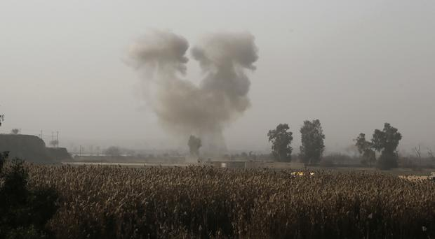 Iraqi forces have retaken around a third of the city since the operation began in mid-October (Khalid Mohammed/AP)