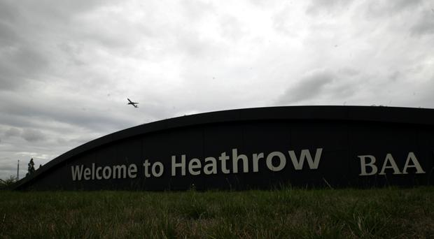 The man was arrested at Heathrow