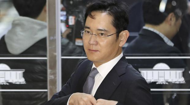 Lee Jae-yong is a bribery suspect in the influence-peddling scandal that led to the impeachment of South Korea's president (AP)