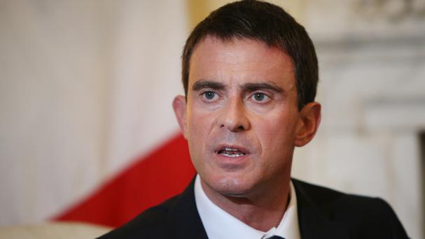 French prime minister Manuel Valls said