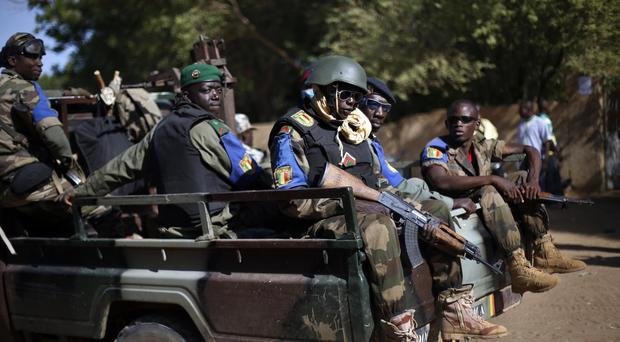 The Malian army patrols the streets of Gao (AP/Jerome Delay)