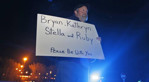 Chuck Troutman demonstrating in support of the execution of Ricky Gray, outside the Greensville Correctional Centre in Jarratt, Virginia (AP Photo/Steve Helber)