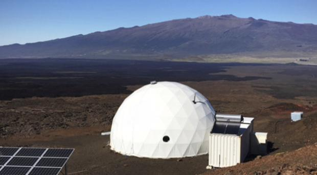 The geodesic dome located 8,200ft above sea level on Mauna Loa (University of Hawaii/AP)