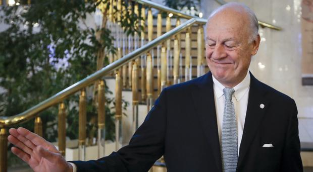 Staffan de Mistura said there is 'some optimism' amid ongoing Syria peace talks (Sergei Grits/AP)