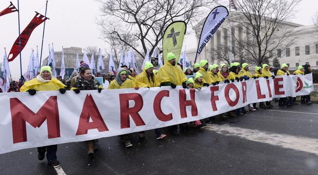 Marchers at last year's event (AP)