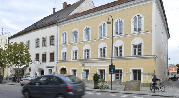 An exterior view of Adolf Hitler's birth house in Braunau am Inn, Austria. (AP/Kerstin Joensson)