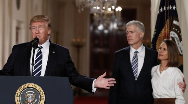 President Donald Trump announces Judge Neil Gorsuch as his Supreme Court nominee (AP Photo/Carolyn Kaster)