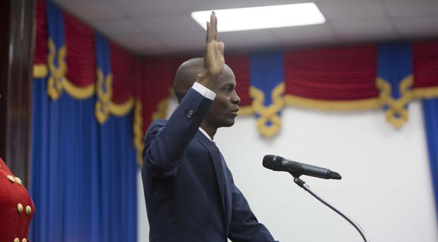 Haiti's President Jovenel Moise is sworn in (AP/Dieu Nalio Chery)