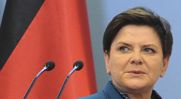 Polish Prime Minister Beata Szydlo is being checked out in a hospital after the accident (AP Photo/Alik Keplicz )