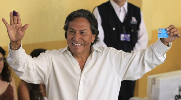 Peru's former president Alejandro Toledo is believed to be in San Francisco (AP)