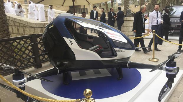 A model of the EHang 184 at the World Government Summit in Dubai (Jon Gambrell/PA)