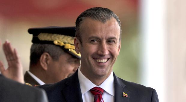 Tareck El Aissami will have sanctions imposed on him by the US, which accuses him of playing a major role in international drug trafficking (AP/Fernando Llano)