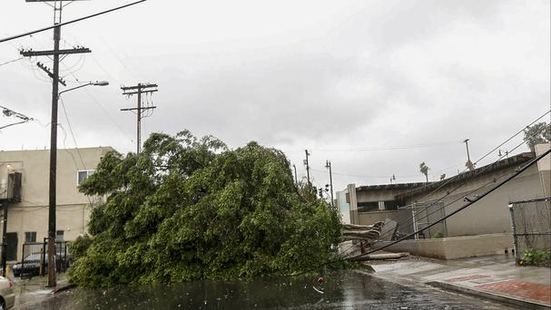 Powerful storm takes aim at Southern California