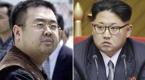 Kim Jong Nam, left, was the estranged half-brother of North Korean leader Kim Jong Un (AP)