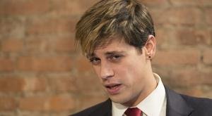 Milo Yiannopoulos had faced criticism from other conservatives over comments on sexual relationships between boys and older men (Mary Altaffer/AP)