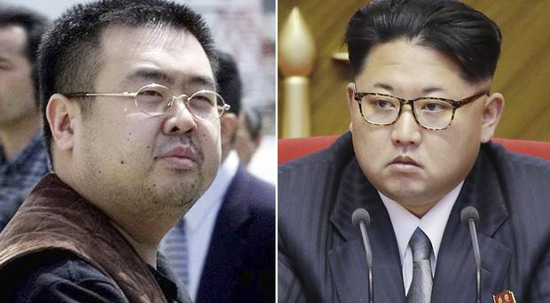 Kim Jong Nam, left, was the exiled half-brother of North Korea's leader Kim Jong Un, right (AP)