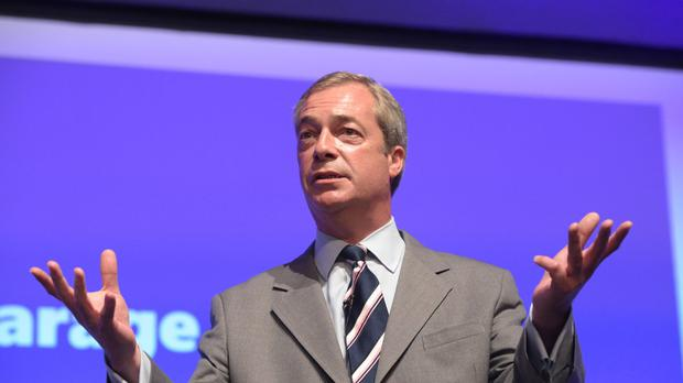 Nigel Farage was speaking to US conservatives