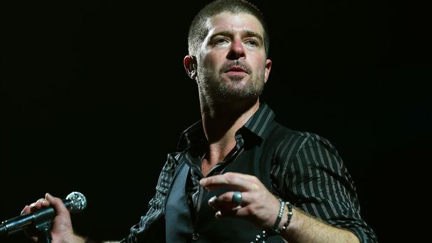 Robin Thicke has been ordered to stay away from his ex-wife