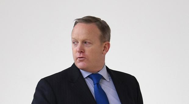 Sean Spicer gave the briefing