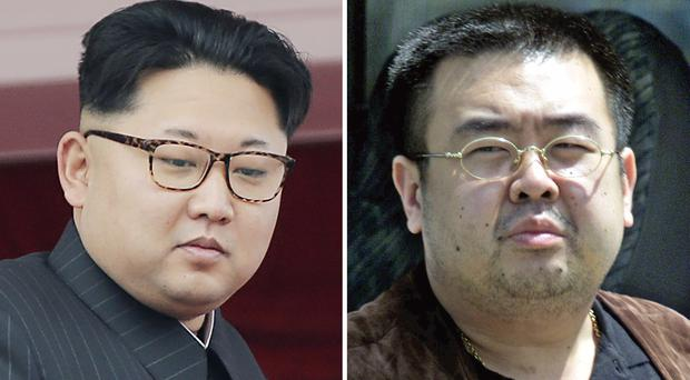 Kim Jong Un and his brother Kim Jong Nam (AP)