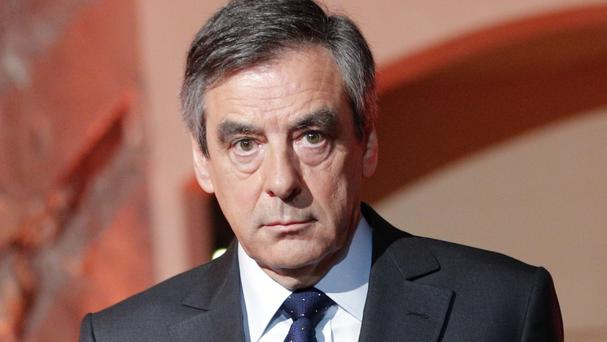 Francois Fillon was once the front-runner in the race for the April-May two-round election (Christophe Ena/AP)