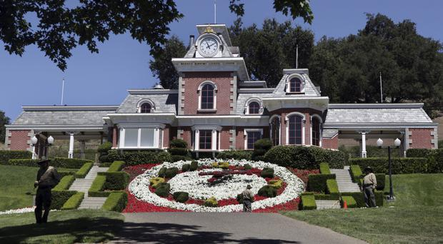 The train station at Neverland Ranch in Los Olivos, California (Carolyn Kaster/AP)
