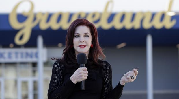 Priscilla Presley at the grand opening of the Elvis Presley's Memphis complex (AP)