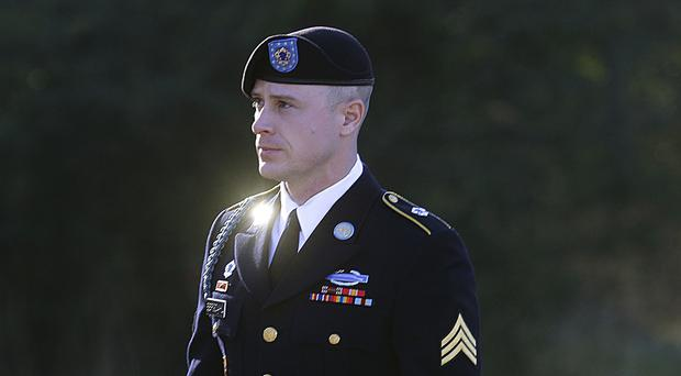 The spokesman said the commander was the man who accompanied US Army Sergeant Bowe Bergdahl when he was handed over to US authorities in 2014 (AP)