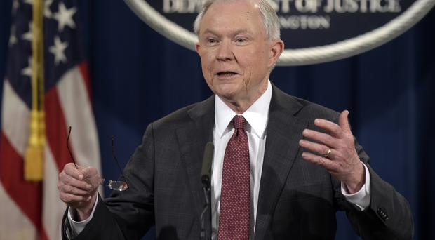 Jeff Sessions recused himself from any investigation into communications between aides to President Donald Trump and Moscow (AP)