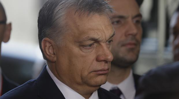 Mr Orban was an early supporter of US president Donald Trump (AP)