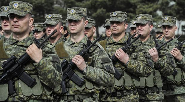 Members of the Kosovo Security Force (AP)