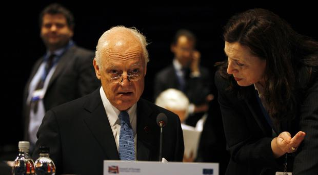 Staffan de Mistura announced further talks on the Syria conflict will take place on March 23