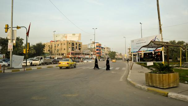 Stock picture of street scene in Iraq
