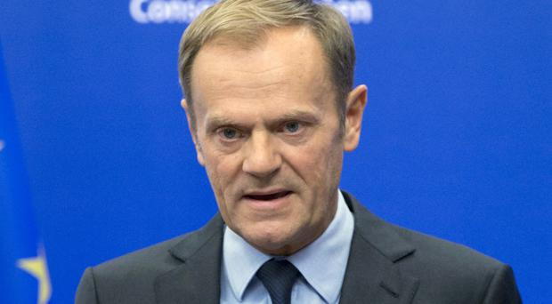 Donald Tusk is seeking a second term in one of the bloc's top positions (Virginia Mayo/AP)