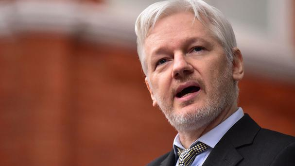Julian Assange was speaking during an online press conference