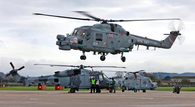 Out of service: Lynx helicopter
